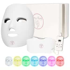 7 Color Wireless Facial Skin Care Mask with Neck - Proven Red and Blue Photon Treatment Mask - Korean Skin Care Mask