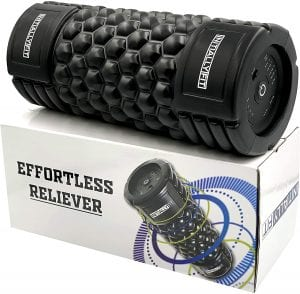 InitiallyFit 5 Speed Foam Roller for Physical Therapy & Exercise - Vibrating Back & Body Rollers for Sore Muscles Deep Tissue Massage - Fitness Muscle Travel Roller
