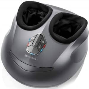 MARNUR Foot Massager Machine Shiatsu Foot Massage Electric Kneading with Heat Rolling and Air Compression for Home Office