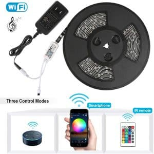 Nexlux LED Strip Lights, WiFi Wireless Smart Phone Controlled 32.8ft Waterproof Light Strip LED Kit 5050 LED Lights,Working with Android