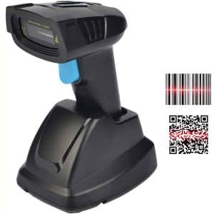REALINN Cordless Barcode Scanner Wireless 2D QR Code Bar Code Reader with USB Cradle 328ft Transmission Distance CMOS Imager Data Matrix PDF417 UPC Scanners