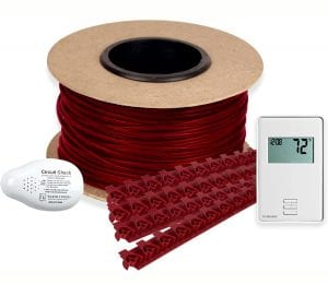 WarmlyYours TCT120-KIT-ON-030 Tempzone Electric Floor Heating Cable Kit with Strips, 30 ft. (7.5 sq. ft.)