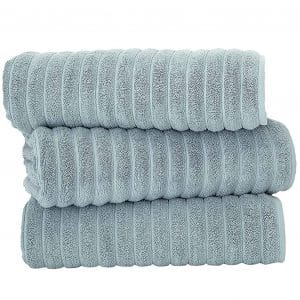 Classic Turkish Towels Soft Thick Luxury Ribbed Bath Sheets, 3 Piece Bath Set