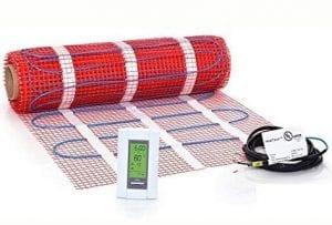 15 sqft Mat Kit, 120V Electric Radiant Floor Heat Heating System w:Aube Programmable Floor Sensing Thermostat
