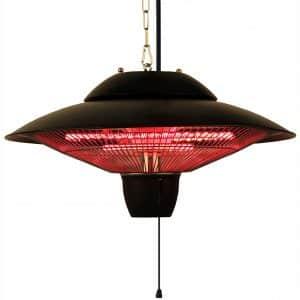 Ener-G+ Indoor:Outdoor Ceiling Electric Patio Heater, Black