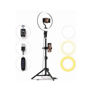 Meifigno 10″ Ring Light with Tripod Stand