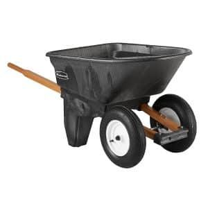 Rubbermaid Commercial, 200-Pound Capacity 2-Wheel Wheelbarrow