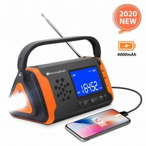 RunningSnail Emergency NOAA Portable Radio with Bright Flashlight