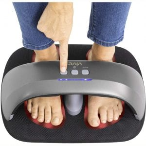 Vive Heated Foot Massager - Shiatsu Massaging Machine with Heat - Electric and Portable for Home, Office, Women, Men - Kneading Intensity