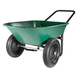Garden Star Green/Black Marathon 2 Tire Wheelbarrow