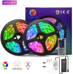 LED Strip Lights, Color Changing 5050 RGB LED Light Strips with 44key Remote Control 12 Volt Led Lights Kit,Power Supply Mood Lamp