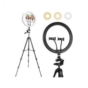 Selfie Ring Light 12″ with 56″ Extendable Tripod