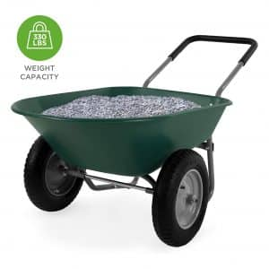 Best Choice Products Dual-Wheel Wheelbarrow for Lawn
