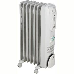 DeLonghi Oil-Filled Radiator Space Heater, Quiet 1500W, Adjustable Thermostat, 3 Heat Settings, Energy Saving, Safety Features, Nice for Home with Pets:Kids