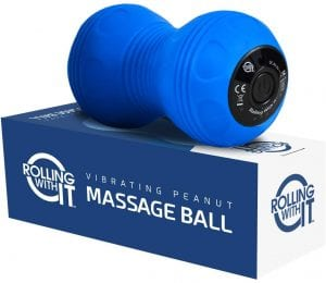 Professional Vibrating Peanut Massage Ball - Deep Tissue Trigger Point Therapy, Myofascial Release - Handheld, Cordless