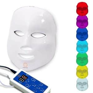 Dermashine Pro 7 Color LED Mask for Face   Photon Red Light For Healthy Skin Rejuvenation Therapy   Collagen, Anti Aging, Wrinkles, Scarring