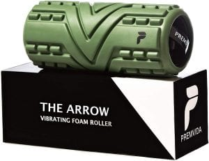 Premvida 3-Speed Vibrating Foam Roller - High Intensity Vibrating Massage Roller for Deep Muscle Recovery & Deep Tissue Sports Massage, Electric Back Roller for Running