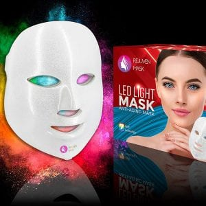Rejuven Mask Pro LED Light Therapy Mask for Anti-aging, Brightening, Improve Wrinkles. Tightening and Smoother Skin