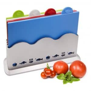Caramella Index Color Coded Dishwasher Safe Cutting Board