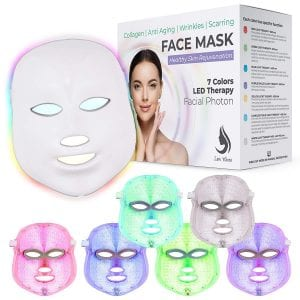 Red Light Therapy LED Face Mask 7 Color | LED Mask Therapy Facial Photon For Healthy Skin Rejuvenation | Collagen, Anti Aging, Wrinkles, Scarring | Korean Skin Care