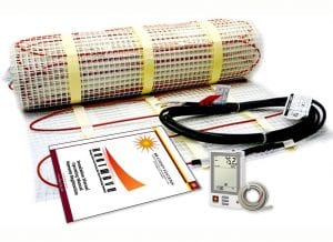 25 Sqft Electric Floor Heating System with Required GFCI Programmable Thermostat 120V