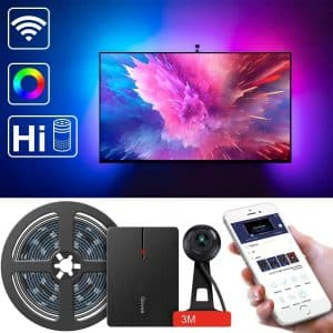 LED TV Backlights, Govee WiFi TV Backlights Kit with Camera, TV Led Strip Lights Compatible with Alexa, APP Control Music Led Strip Lights, TV Ambient Bias Lighting