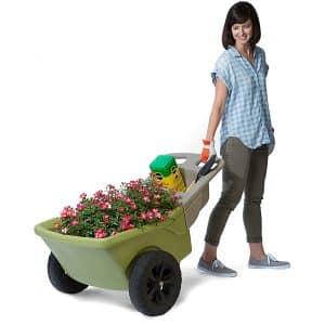 Simplay3 4 Cubic ft. Capacity 2 Wheel Wheelbarrow Garden Tool