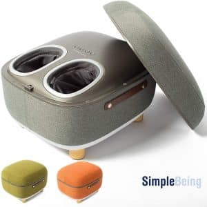 Simple Being Foot Massager Electric Ottoman Storage Removable Heating Lid