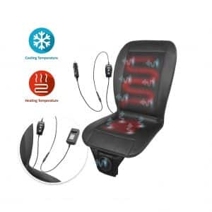 ZONE TECH 2 In 1 Car Seat Cushion 12V Adjustable Temperature