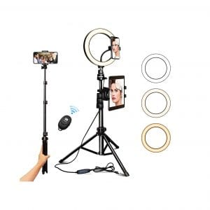 JOGDRC 10.2 Selfie Ring Light with Tripod Stand