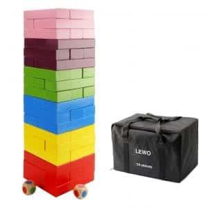 Lewo 54 Pieces Wooden Giant Tumble Tower