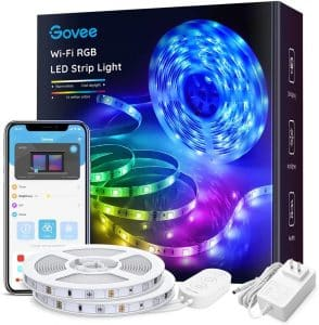 Govee 32.8ft LED Strip Lights Works with Alexa Google Home, Wireless Smart App Control RGB Light Strip Kit Music Sync for Room TV Kitchen Home Party