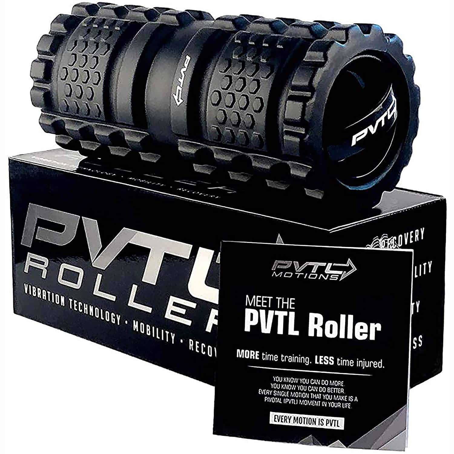 PVTL Vibrating Foam Roller 3 Speed Best Vibranting Foam Roller Rechargeable Recovery Therapeutic Electric Massager Deep Tissue Massage 1 Year Guarantee Free