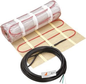 SEAL 50 sqft 120V Radiant Floor Heating Mat for Ceramic, Tile, Mortar, Easy to Install Self-adhesive Floor Heating System Kit