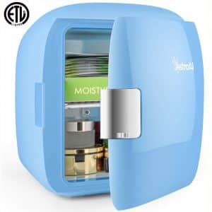 AstroAI Mini Fridge 9 Liter:12 Can AC:DC Portable Thermoelectric Cooler and Warmer for Skincare, Foods, Bedroom, Home and Travel