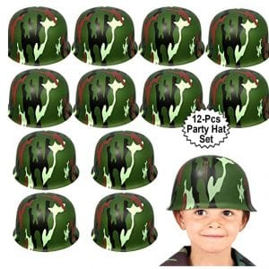 Anapoliz 12 Count Army Plastic Helmets for Kids