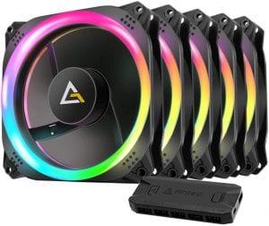 Antec Prizm 120 ARGB 5+C 120mm Case Fan w:Fan Controller (5 in 1 Pack)