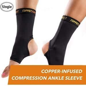 Copperjoint Copper-Infused Breathable Compression Ankle Sleeve