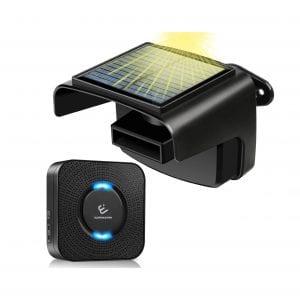 E ELEPOWER Driveway Solar Motion Sensor Alarm System