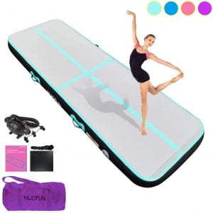 HIJOFUN Premium Air Track 10ft 13ft 16ft 20ft Airtrack Gymnastics Tumbling Mat Inflatable Tumble Track with Electric Air Pump