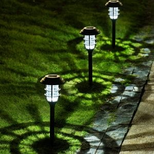 Solpex 8 Pack Solar Pathway Lights Outdoor, Solar Powered Garden Lights, Waterproof Led Path Lights for Patio, Lawn, Yard and Landscape