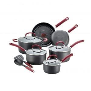 T-fal 12-Piece Dishwasher Safe Anodized Nonstick Cookware Set
