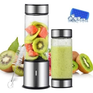 TTLIFE 2 Cup Cover Portable Blender Cordless USB Rechargeable