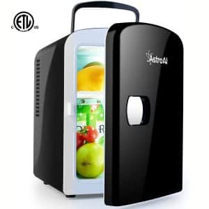 AstroAI Mini Fridge 4 Liter:6 Can AC:DC Portable Thermoelectric Cooler and Warmer for Skincare, Foods, Medications, Home and Travel