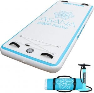 Driftsun Asana Inflatable Water Yoga Mat Tumbling Track Platform, Aquatic Fitness, Gymnastic Tumbling or Relaxing Meditation On or Off The Water