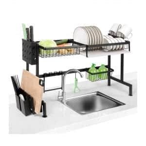 Homeweeks Over-sink drying rack