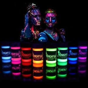 Midnight Glo Blacklight Body Paint Kit