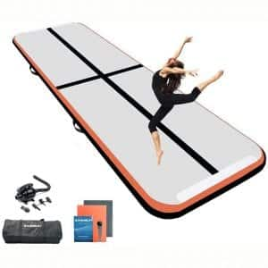 Ewinsun 10 13 16FT Gymnastics Tumbling Mat Inflatable Mats with Electric Air Pump for Home Use Tumble Gym Training