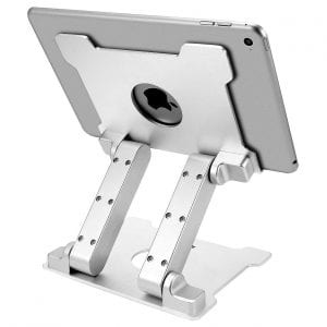 KABCON Tablet Stand with an Adjustable Design, Silver