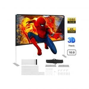 Powerextra Projector Screen with Stand